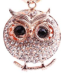 Urberry Crystal Keyring, Bling Diamond Luxury Key Chain For Womens Bag Or Cellphone Or Car Pendant Rose Gold
