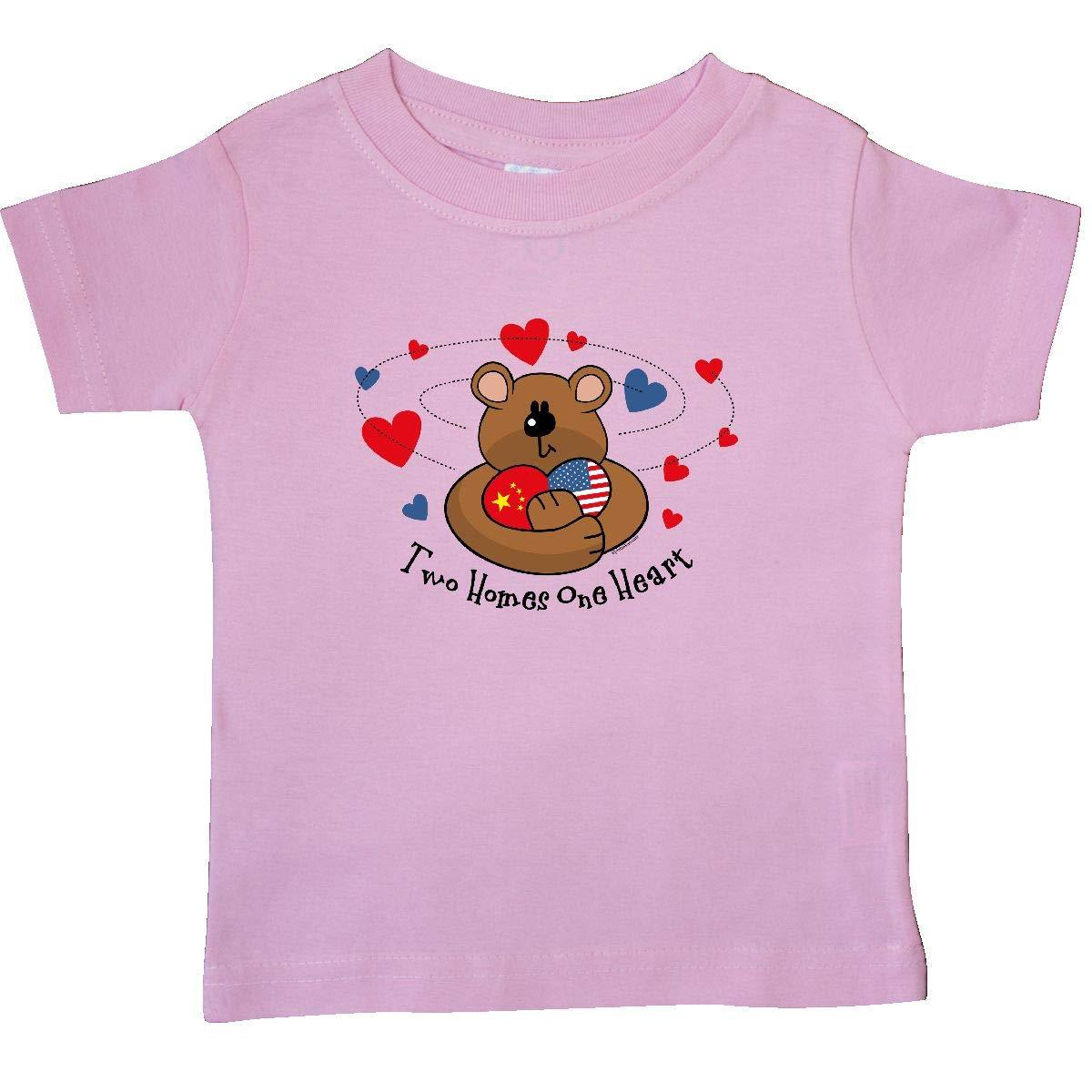 inktastic 2 Homes 1 Heart China Baby T-Shirt