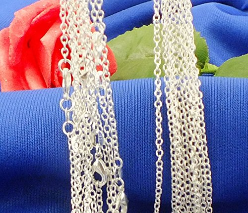 (Jewelry 5pcs/lot 925 Sterling Silver O Shaped Chain Necklace (DIY Necklace))