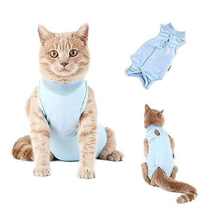 VICTORIE Mascotas Trajes de recuperación quirúrgica Ropa Chaleco de recuperación pequeños Gatos y Perros S