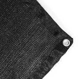 ALEKO 6 x 12 Feet Dog Kennel Shade Cover w/ Aluminum Grommets, Black