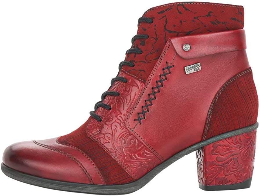 Remonte Red Leather Multi Coloured