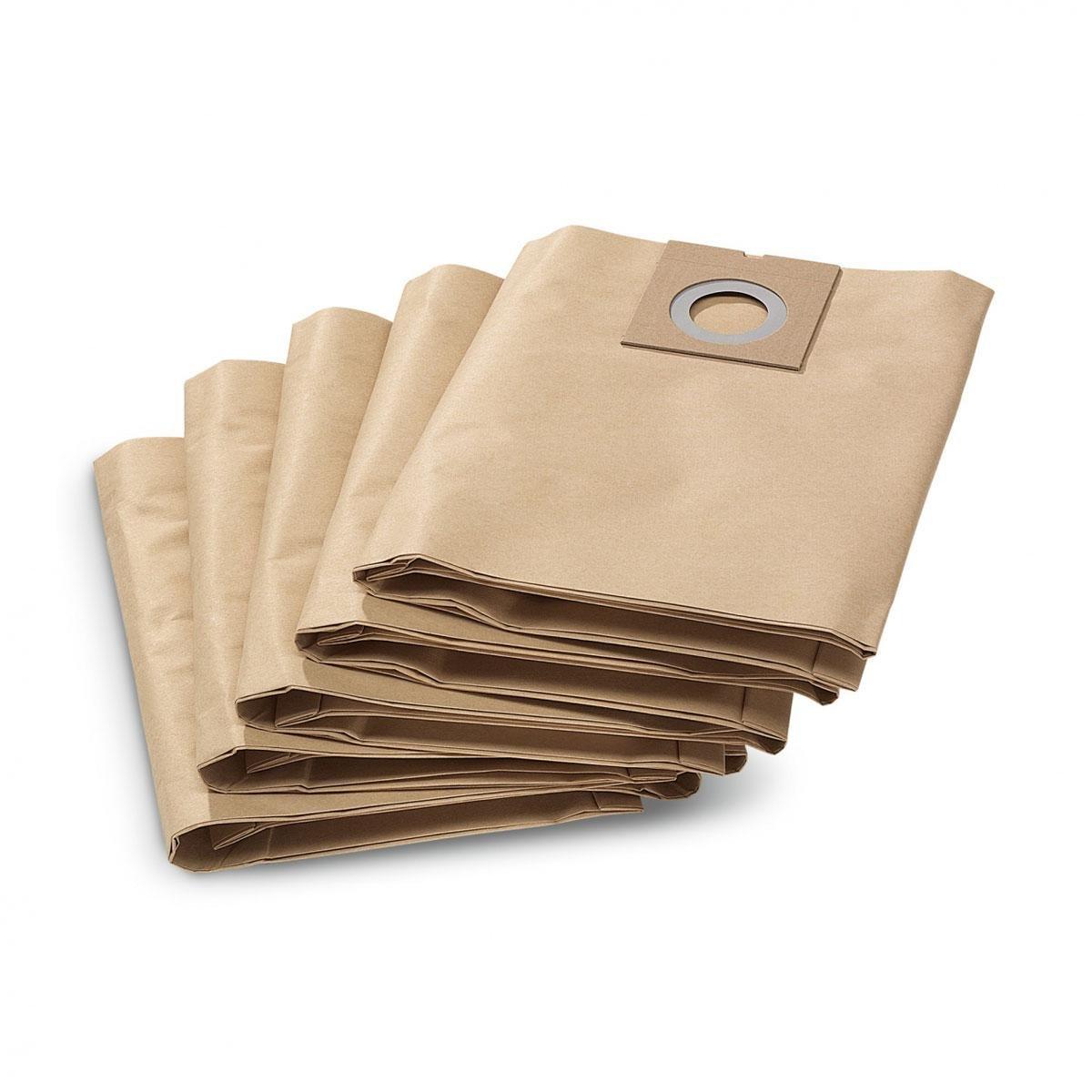 Karcher NT27 Filter Paper Vacuum Bags - Pack of 5