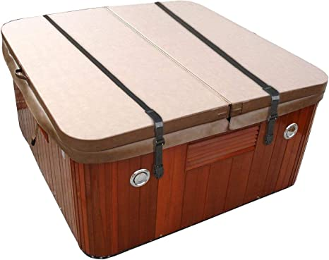 Tan Spa Cover Hot Tub Wind Strap Complete Kit Nexus Locks 10 Ft.