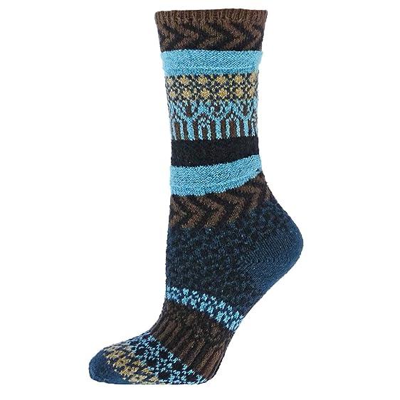 Qt feet Sunrise Fairisle Ladies Crew Socks ( Teal - Medium ) at ...