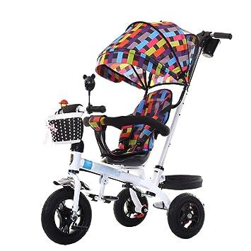 Bicicleta de Triciclo de Cochecito de bebé único para niños de 1-6 años Carrito