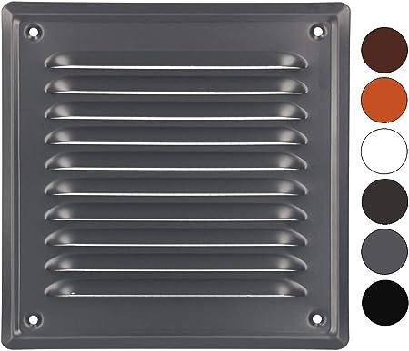 anthracite grille de protection contre la corrosion laqu/ée ventilation KOTARBAU Grille da/ération 165 x 165 mm avec vis
