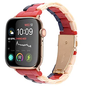 LINKWOW Resin Strap Compatible with Apple Watch Band 38mm 40mm Series1 Series2 Series3 Series4,Ladies and Men Fashionable Resin Watch Band,iWatch ...