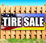 TIRE SALE 13 oz heavy duty vinyl banner sign with metal grommets, new, store, advertising, flag, (many sizes available)