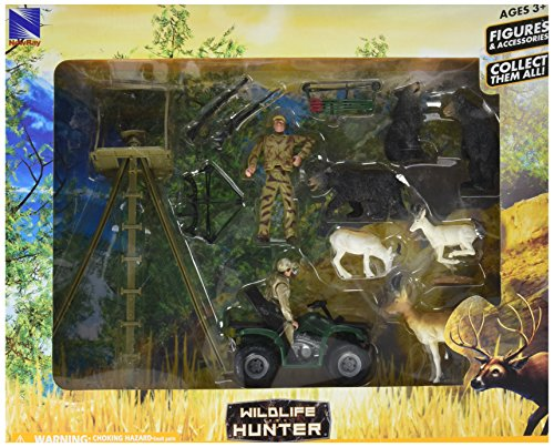 Wild Hunting Bear & Antelope Large Playset by New Ray