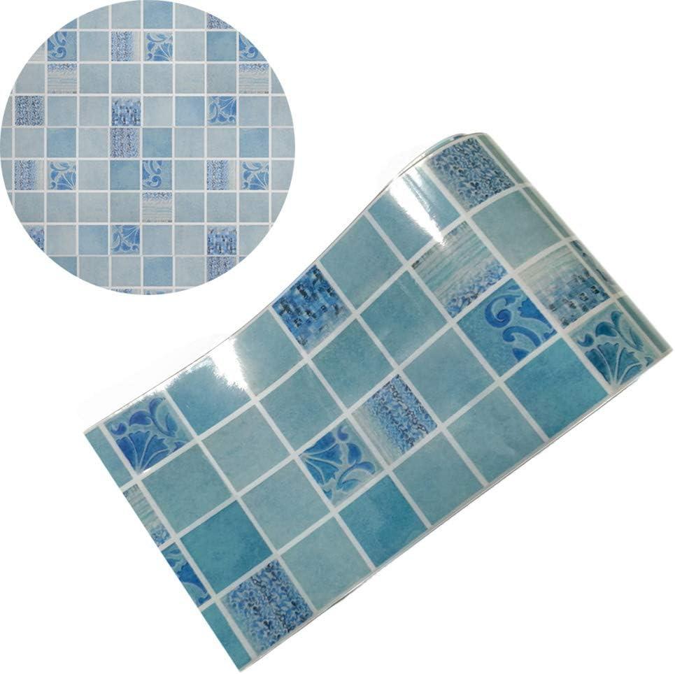 VOSAREA Pegatinas de Azulejos para Ba/ño de Cocina Anti-Aceite Calcoman/ías de Baldosas de Mosaico a Prueba de Agua 500 x 20 cm
