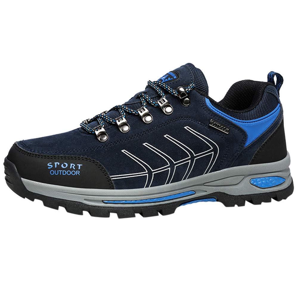 LuckyGirls Zapatos de Alpinismo para Hombre Color de Mezcla Antideslizante Respirable Zapatillas con Cordones Calzado Informales