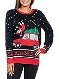 Tipsy Elves Women's Funny Grandma Got Run Over Xmas Sweater - Funny Ugly Christmas Sweater