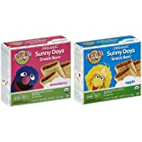 Earth's Best Organic Sunny Days Snack Bars Bundle: 1 Box of Strawberry & 1 Box of Apple Bars