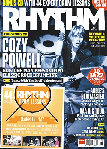Rhythm Magazine (June 2016 - Cover: Cozy Powell - Includes Bonus CD)