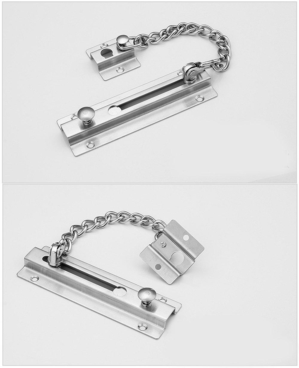 T/ür Ketten dicker erweitern Edelstahl Sicherheit T/ür Lock Security Slide Bolt Edelstahl Kette Diebstahlschutz Kette Sicher Schnalle Eigenschaften geb/ürstetem Finish