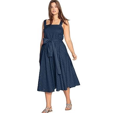 Castaluna Women\'s Plus Size Tie-Waist Eyelet Dress at Amazon ...
