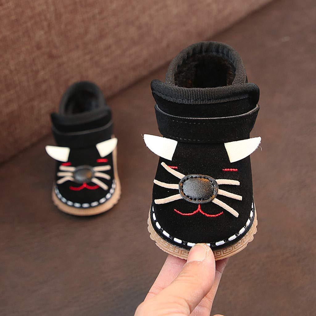 d08eb80985a80 Amazon.com: WARMSHOP Warm Baby First Walker Shoes Soft Flock Cartoon ...