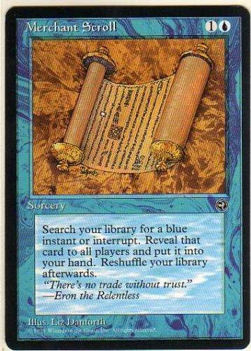 1995 Magic The Gathering Homelands #94 Merchant Scroll C :B: - No Play Wear -