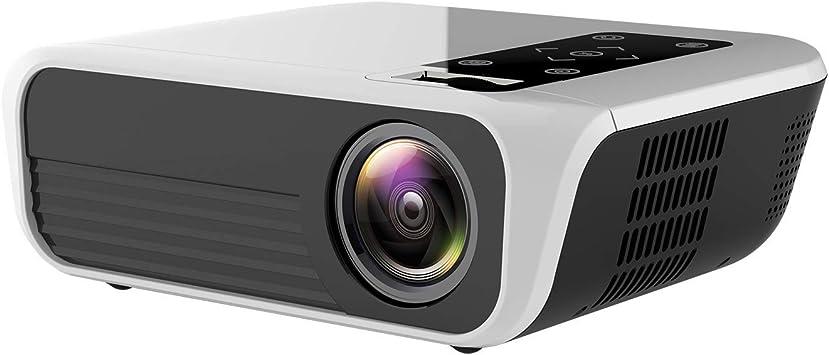 Opinión sobre Inicio HD 1080P Inteligente Proyector Mini Mini Portátil Móvil 3D Proyector De Teléfono 150ANSI Compatible USB/HD/SD/AV/VGA para Cine En Casa,Basic Version