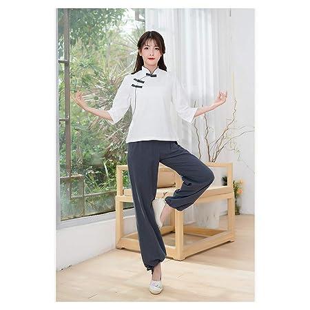 Tai Chi Uniforme Disfraz para Lino Chino Tradicional Qi Gong ...