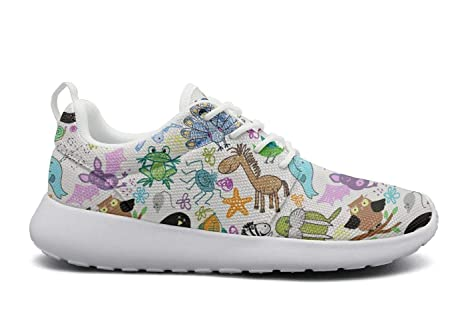 e5012c889 Animals Party Owl Unicorn Tennis Shoes for Women Spring Comfortable and Lightweight  Air Running Shoes