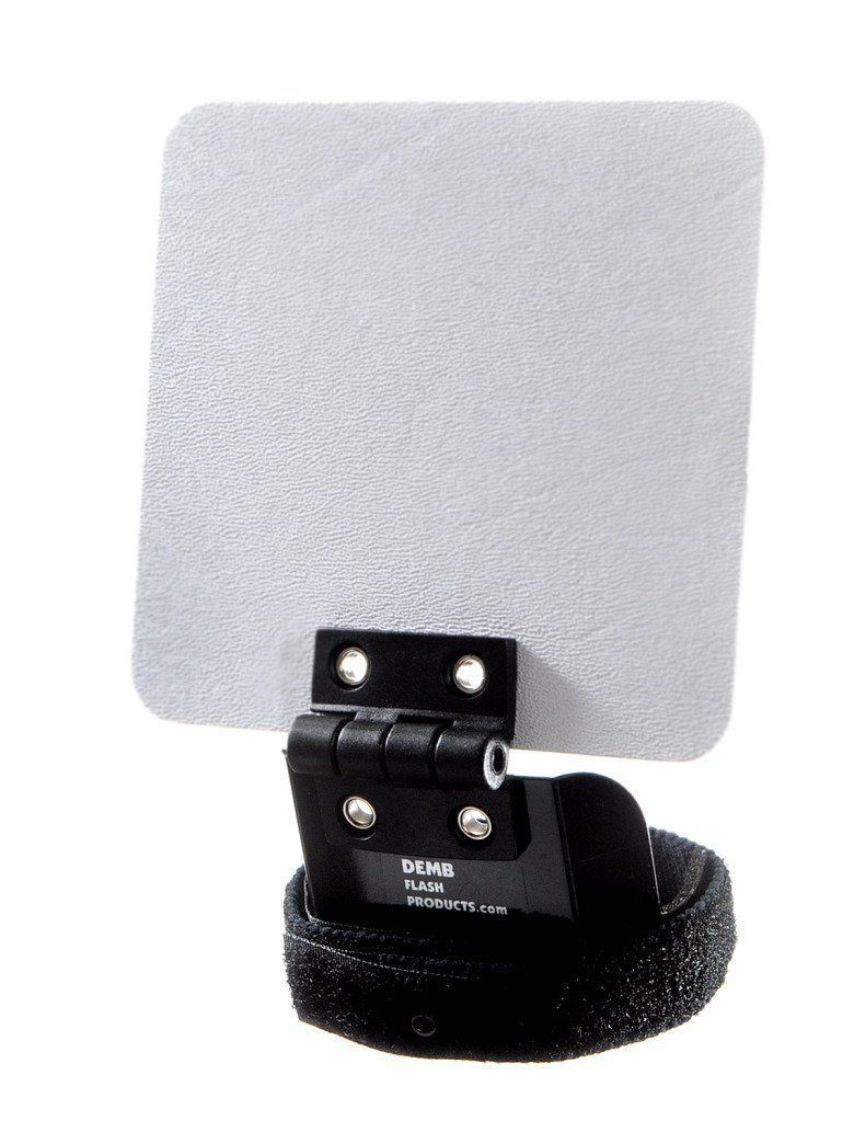 """Demb Classic Flip-it! - Articulating Flash Reflector, 4 ¼"""" X 4"""". Controls Proportion Between Ceiling Bounce and Reflector Bounce."""