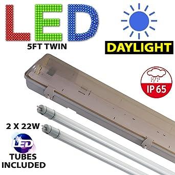 LED Ready T8 2ft Twin Non Corrosive Water Tight IP65 Batten Light Bargain £10