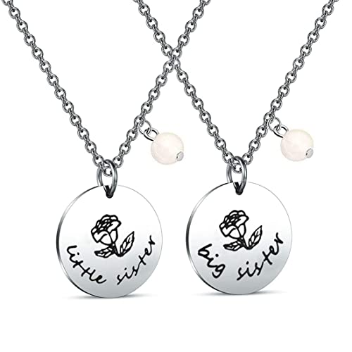 8c5a6f1685 Zuo Bao 2 Sister Necklace Big Sister Little Sister Necklace Set Sisters Gift  Best Friend Necklace