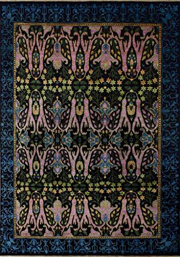 Noori Rug N9650 Aria Fine Chobi Freya Area Rug, Black -