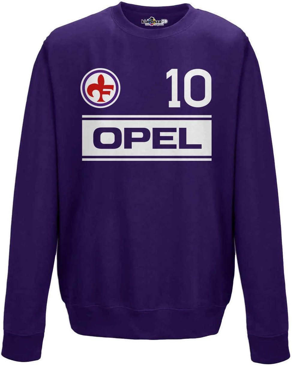 Felpa Girocollo Calcio Vintage Giancarlo Fiorentina 10 Antognoni Stagione 83-84
