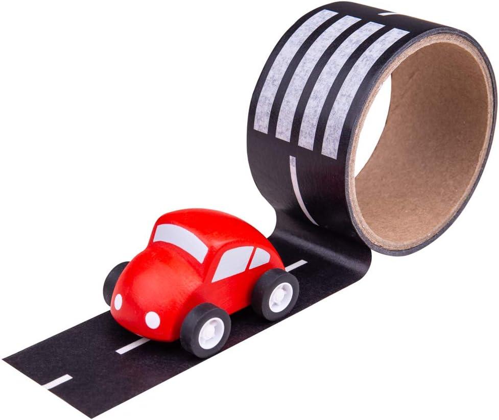 Removable Track Aeroplane Vehicle Bigjigs Toys Runway Track Sticker Tape
