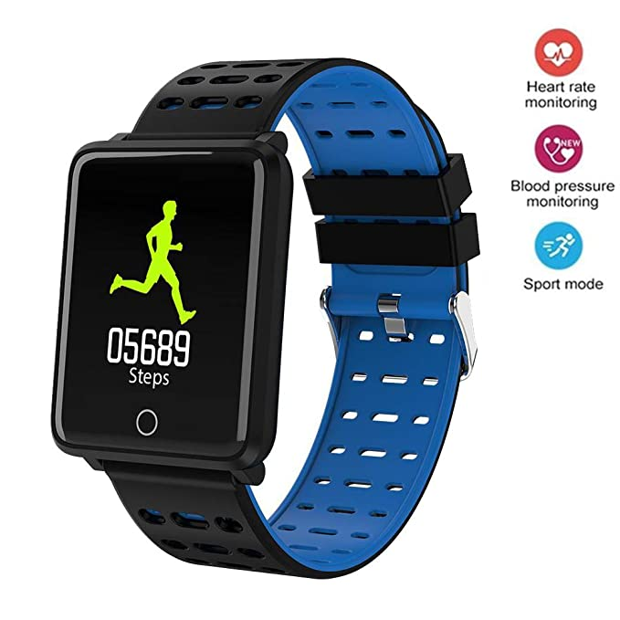 Onbio Touch Screen Smart Watch IP68 Waterproof Fitness Tracker Heart Rate Monitor Sports Bracelet Blood Pressure Detection Health Pedometer Wristband ...