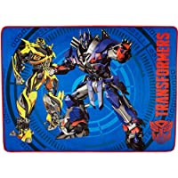 40 x 56 Transformers design Area Rug w/ 100% polyester Spot clean only Blue