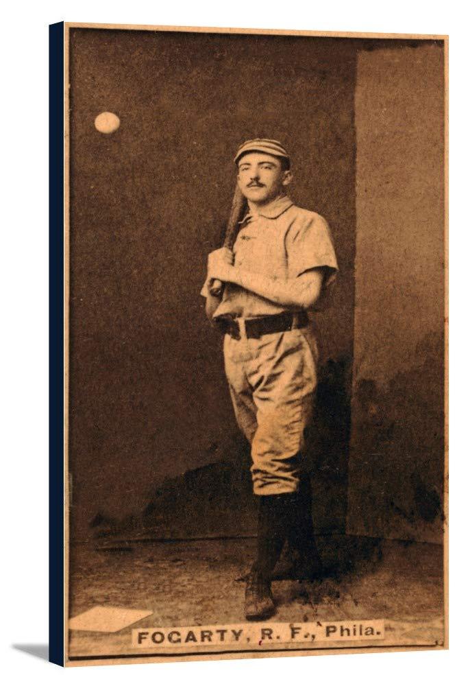 Philadelphia Quakers – ジムフォガティ – 野球カード 20 5/8 x 36 Gallery Canvas LANT-3P-SC-22940-24x36 B0184AHFJQ  20 5/8 x 36 Gallery Canvas