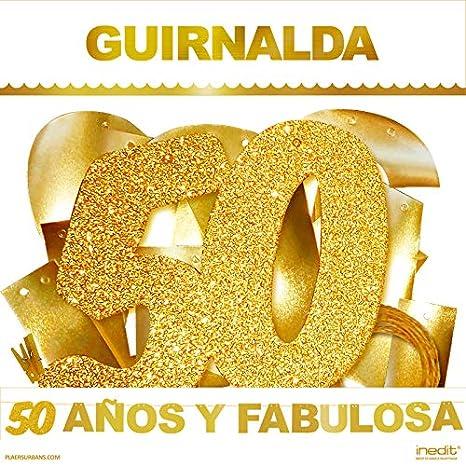 inedit Festa - Guirnalda Purpurina Dorada Fiesta de Cumpleaños 50 y Fabulosa Celebración 50 años