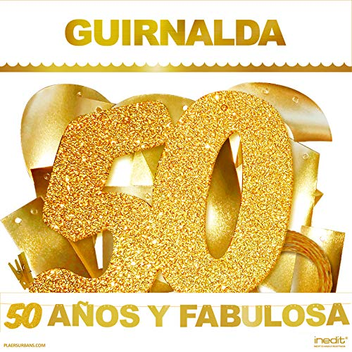 Guirnalda Purpurina Dorada Fiesta de Cumplea/ños 50 y Fabulosa Celebraci/ón 50 a/ños Inedit Festa