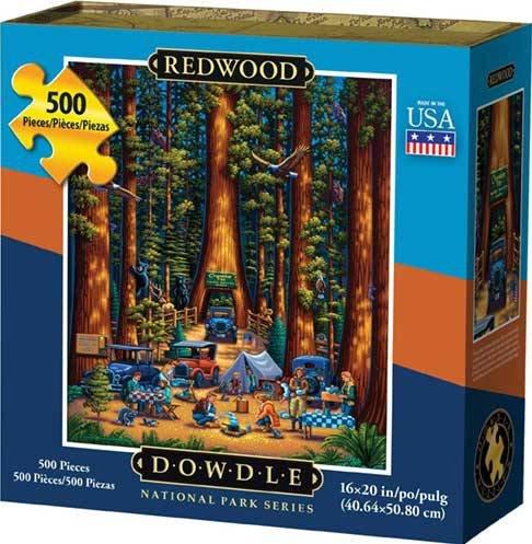 Dowdle Folk Art Redwood National Park Puzzle (500 Piece) (Parka Redwood)