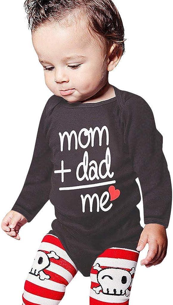 K-Youth Monos para Beb/és Ni/ño Body Bebe Manga Larga mom Dad me Estampado de Carta Bodies Bebe Peleles Bebe Ni/ña Recien Nacido Bautizo Ropa Bebe Ni/ño de 0-24 Meses Unisex