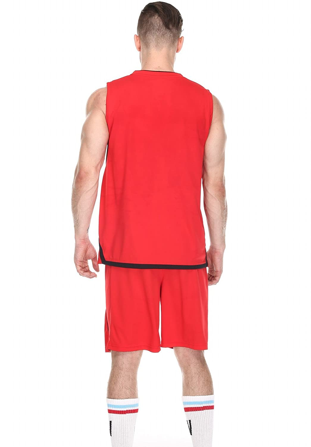0ea418829 Men s Basketball Shorts and Jersey Basketball Uniform for Men Workout  Running Gym Shorts Set Quick Dry Breathable Sportwear  Amazon.co.uk   Clothing
