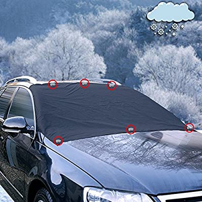 GREATWILD Automotive Windscreen Snow Cover Frost Cover Magnetic Windshield Cover Windproof Oversized for SUV Truck and normal Car