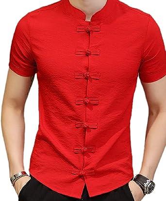 Camisa de Seguridad para Hombre con Cuello de Mandarina Tradicional Tai Chi Kung Fu 1 XX-Large: Amazon.es: Ropa y accesorios