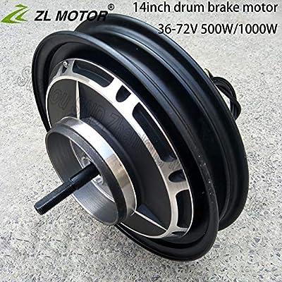 GZFTM - Motor eléctrico para Bicicleta de montaña, Motor de buje sin escobillas, 14 Pulgadas, 36 V,