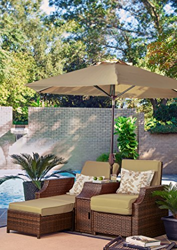 Relax A Lounger STN-3PC-SD-SET Santa Barbara Outdoor Convertible Chair (Lifestyle Solutions Santa)