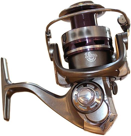FELICIGG Carretes de Spinning, carretes de Pesca de Spinning de Agua Dulce Marco Rodamientos de Aluminio. (Color : 1000): Amazon.es: Hogar