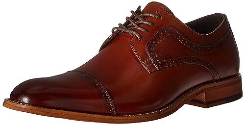 STACY ADAMS Men's Dickinson Cap Toe Oxford, Cognac, 11 W US best men's dress shoes