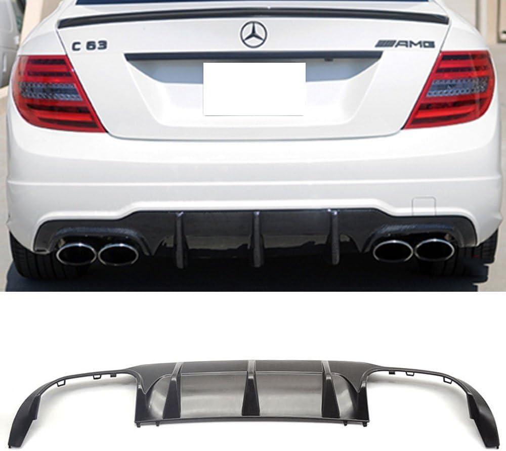 ABS 12-14 Mercedes-Benz C Class W204 LCI 4Dr AMG Unpainted Rear Diffuser