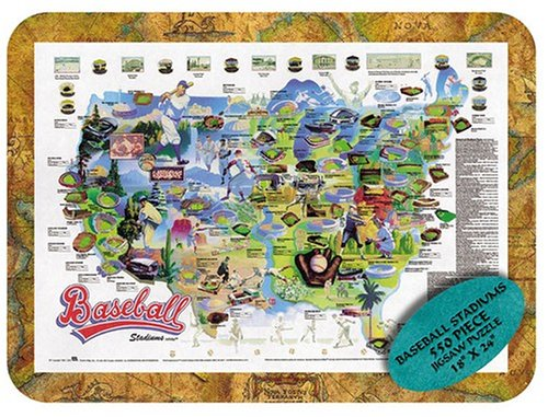 Channel Craft Puzzle Tin Baseball 550 Piece Jigsaw Puzzle (Tin Puzzle Baseball)