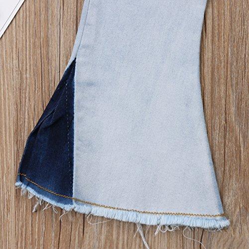 Imcute Toddler Baby Girls Kids Elastic Waist Bell Bottom Flare Jeans Pants 2-6Y