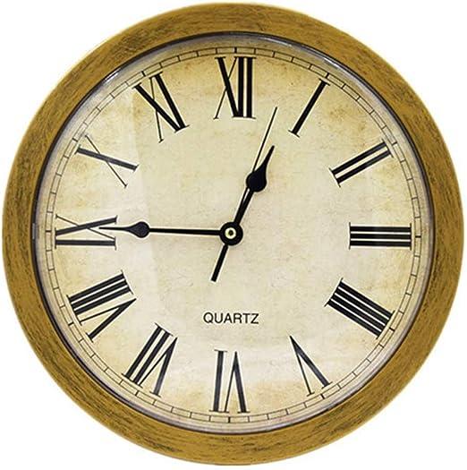 amazon.com: creative wall clock with fuse box, european pastoral rome round  wall clocks, bronze plastic clock watch storage box, vintage clock for  living room bedroom office decoration: home & kitchen  amazon.com